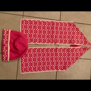 Coach Hat and Scarf Set